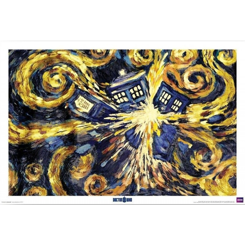 doctor who starry night tardis print doctor who shop