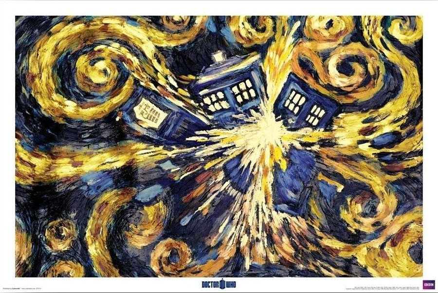 Doctor Who: Starry Night TARDIS Print