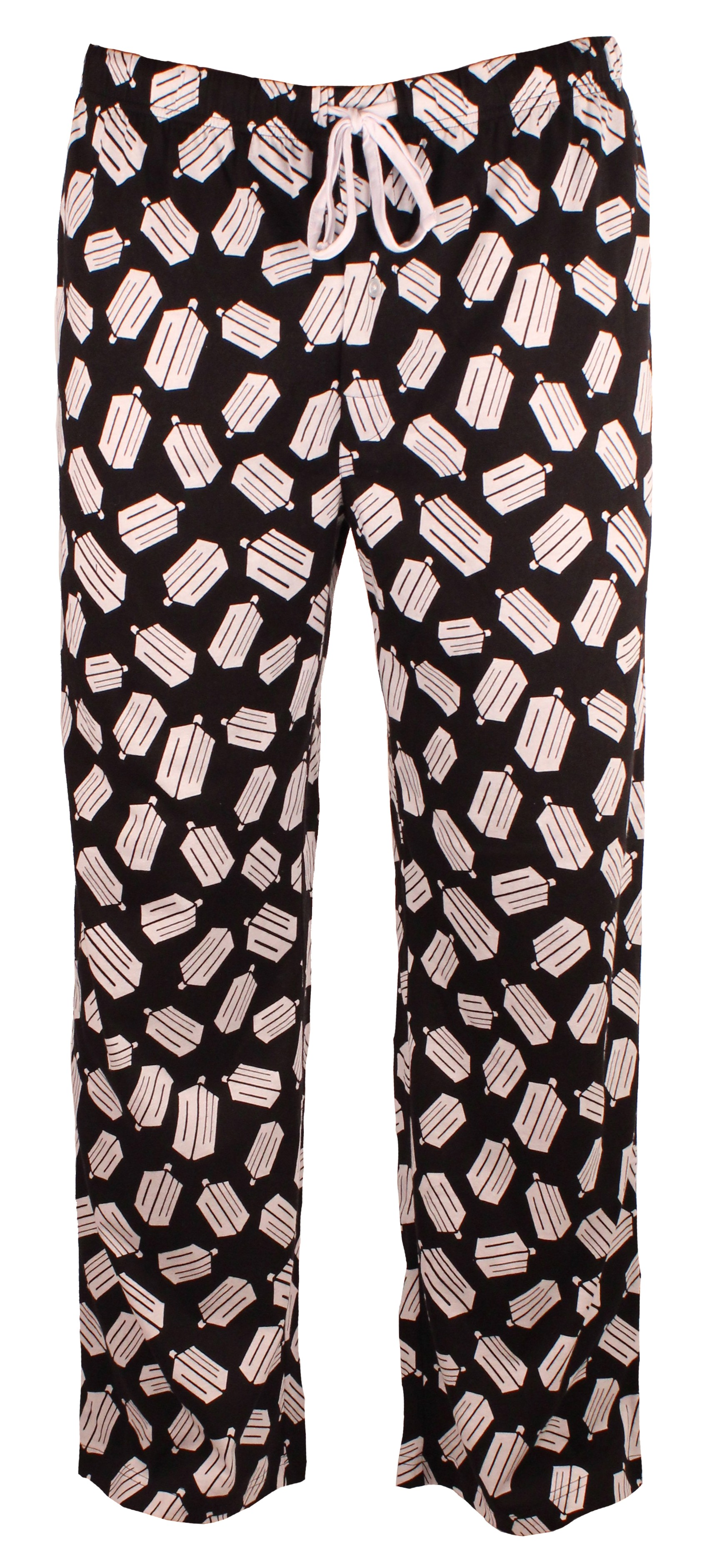Doctor Who: White Logo All over Black Lounge Pants