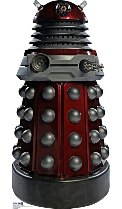 Doctor Who: Red Dalek Cardboard Standup