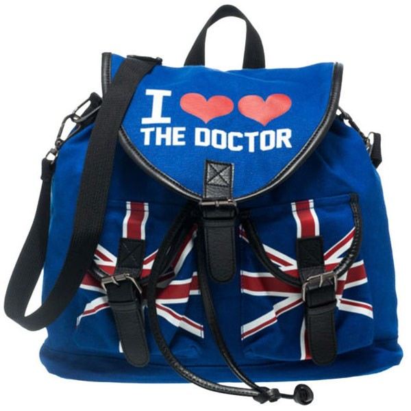 Doctor Who: I Heart Heart The Doctor Convertible Slouch Backpack