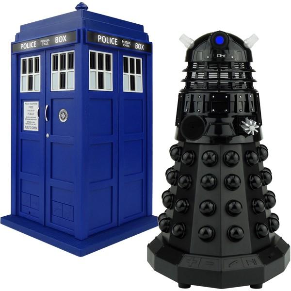 Doctor Who: TARDIS & Dalek Sec Bluetooth Speaker Combo Pack