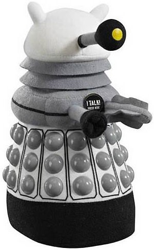doctor who white dalek talking plush toys